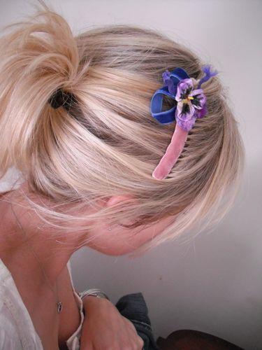 Velvet hair slide